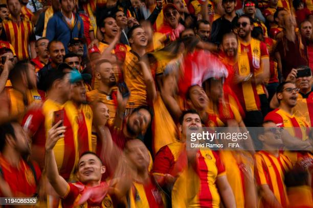 Esperance Sportive de Tunis fans enjoy the atmosphere during the FIFA Club World Cup 2nd round match between Al Hilal and Esperance Sportive de Tunis...