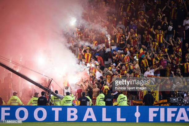 Esperance Sportive de Tunis having fun during the FIFA Club World Cup 2nd round match between Al Hilal and Esperance Sportive de Tunis at Jassim Bin...