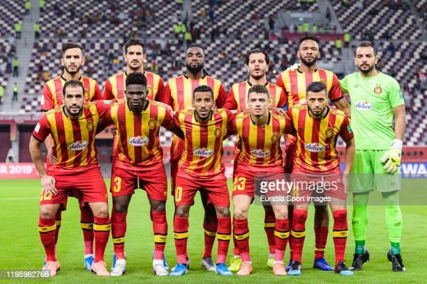 Esperance Sportive de Tunis squad poses for team photos with Abdelkader Bedrane Ali Ben Romdhan Ibrahim Ouattara Khelil Chammam Fousseny Coulibaly...
