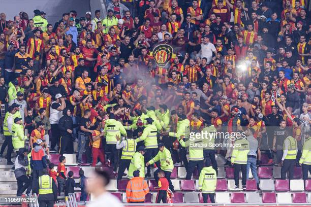 Esperance Sportive de Tunis supporters having fun during the FIFA Club World Cup 5th place match between Al-Sadd Sports Club and Esperance Sportive...