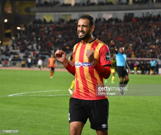 Esperanc's Player Sameh Derbali seen in action during the CAF Champions League 2019 20 football match between Esperance sportive tunisia and ASVClub...
