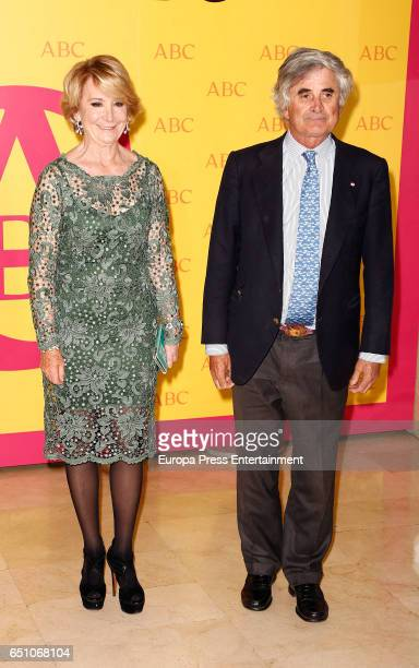 Esperanza Aguirre and Fernando Ramirez de Haro attend IX ABC Bullfighting Award at Casa de ABC on March 9 2017 in Madrid Spain