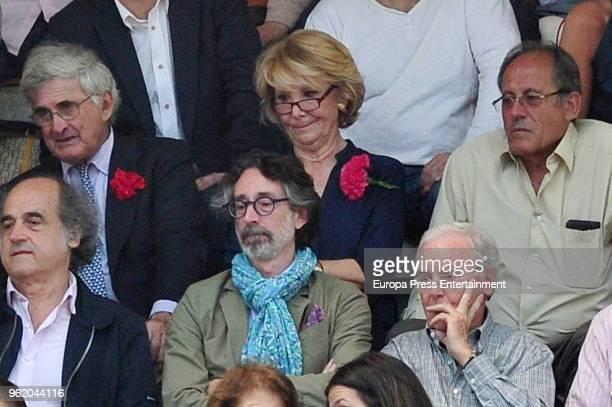 Esperanza Aguirre and Fernando Ramirez de Haro attend San Isidro Fair at Las Ventas Bullring on May 23 2018 in Madrid Spain