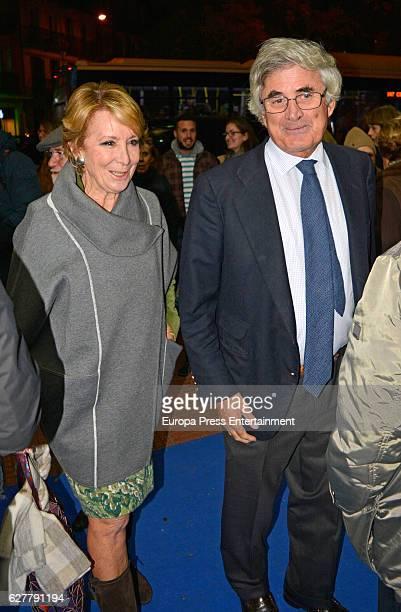 Esperanza Aguirre and Fernando Ramirez de Haro attend the Air Europa 30th Anniversary Event at Palafox Cinema on December 2 2016 in Madrid Spain