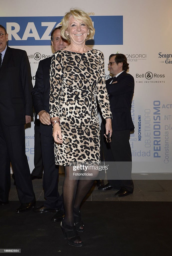 Esperanza Aguirre attends 'La Razon' newspaper 15th anniversary party on November 4, 2013 in Madrid, Spain.