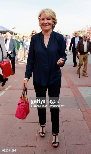 Esperanza Aguirre attends San Isidro Fair at Las Ventas Bullring on May 23 2018 in Madrid Spain