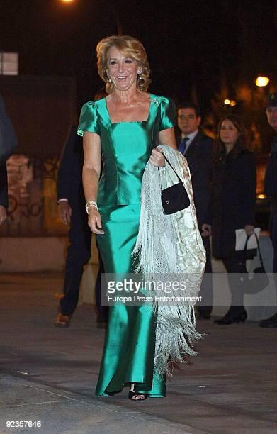 Esperanza Aguirre attends the 2009 Telva Magazine Fashion Awards on October 26 2009 in Madrid Spain