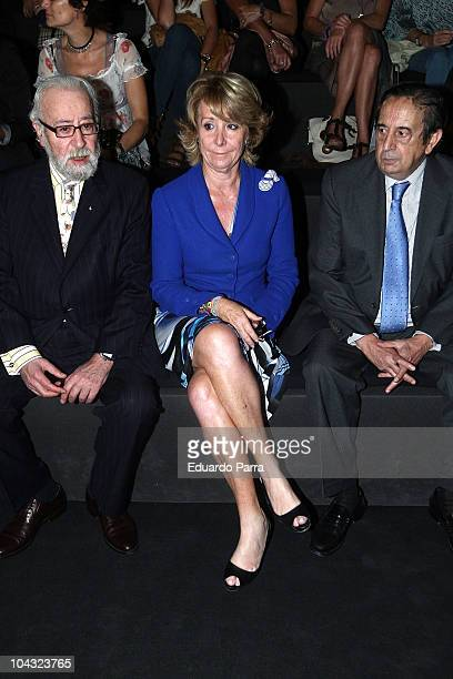 Esperanza Aguirre attends the Cibeles Madrid Fashion Week Spring/Summer 2011 at the Ifema on September 21 2010 in Madrid Spain