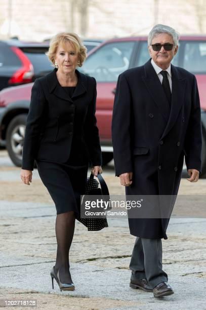Esperanza Aguirre attends the funeral chapel for Princess Pilar of Spain at Monasterio de El Escorial on January 29 2020 in El Escorial Spain
