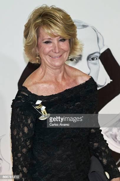 Esperanza Aguirre attends the 'Mariano de Cavia' 'Luca de Tena' and 'Mingote' Journalism awards on October 26 2017 in Madrid Spain