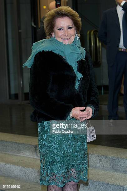Esperanza Aguirre attends the Mario Vargas Llosa 80th birthday party at the Villa Magna hotel on March 28 2016 in Madrid Spain