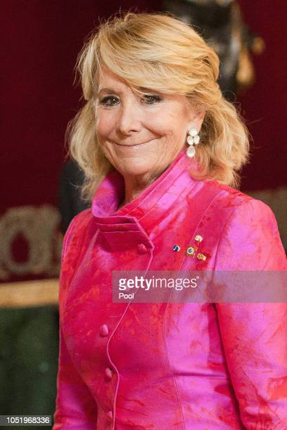 Esperanza Aguirre attends the National Day reception at the Royal Palace on October 12 2018 in Madrid Spain