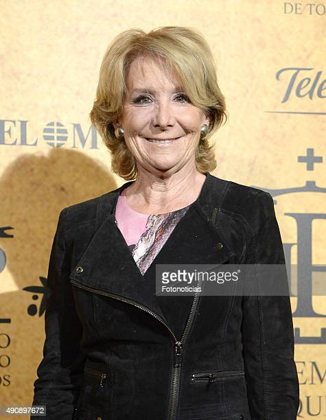 Esperanza Aguirre attends the 'Paquiro' Bullfight Award Ceremony at The Ritz Hotel on October 1 2015 in Madrid Spain