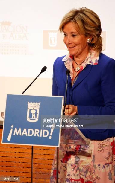 Esperanza Aguirre attends the presentation of 'El Legado Casa de Alba' painting exhibition on September 14, 2012 in Madrid, Spain.
