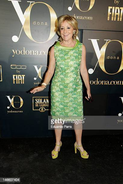 Esperanza Aguirre attends Yo donna international awards photocall at Association of Architects on June 20 2012 in Madrid Spain