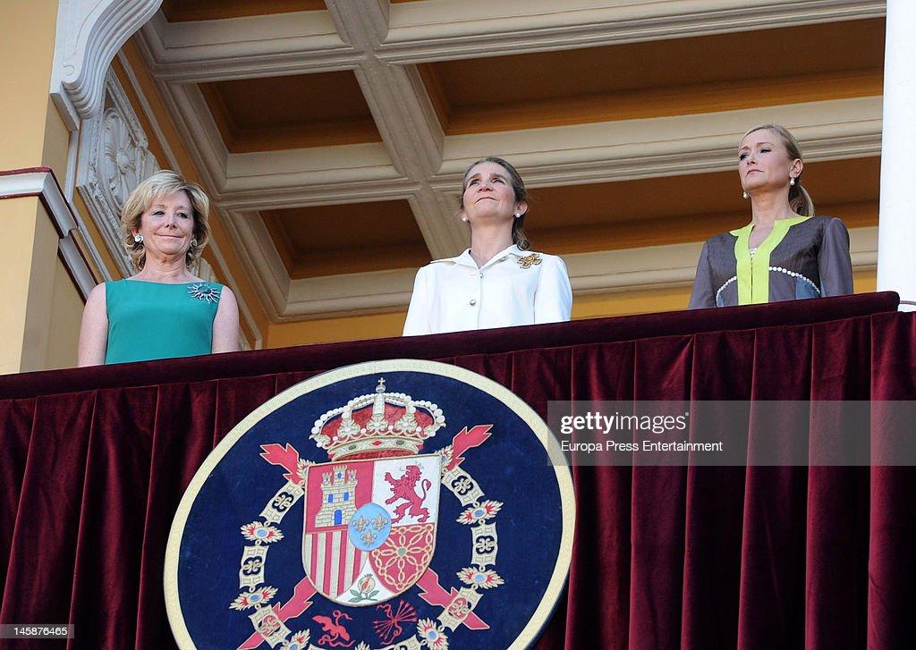 Princess Elena Attends Beneficiencia Bullfight In Madrid - June 06, 2012