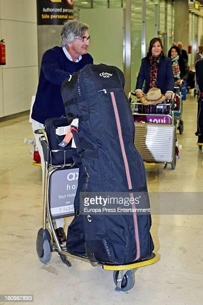 Esperanza Aguirre's husband Fernando Ramirez de Haro is seen at Barajas airport on February 1 2013 in Madrid Spain
