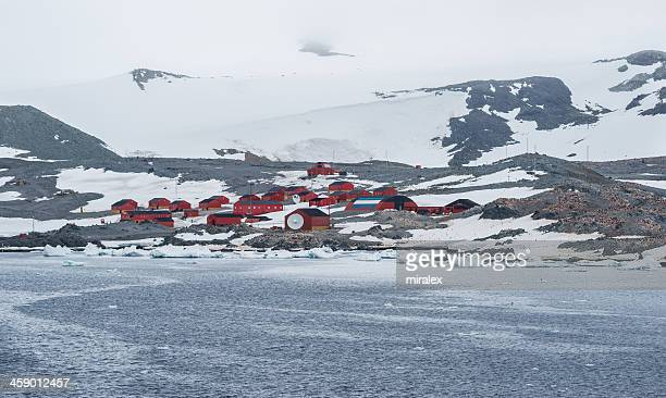 esperanza argentinian antarctic station in hope bay, antarctica - houses in antarctica stock pictures, royalty-free photos & images