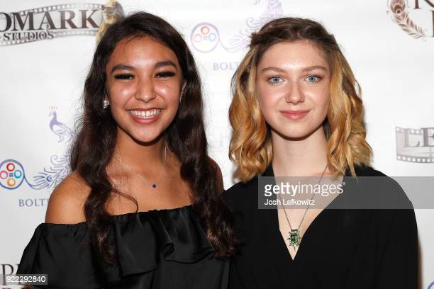Esperanza Fermin and Isabella BlakeThomas attend the premiere screening of Kepler's Dream at Regency Plant 16 on November 30 2017 in Van Nuys...