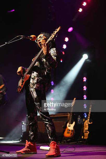 Esperanza Spadling performs her Emily's D Evolution show at Celebrate Brooklyn at Prospect Park Bandshell on June 12 2015 in the Brooklyn borough of...