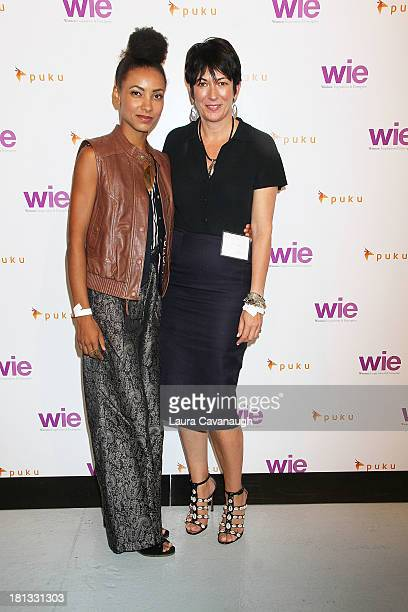Esperanza Spalding and Ghislaine Maxwell attend day 1 of the 4th Annual WIE Symposium at Center 548 on September 20 2013 in New York City