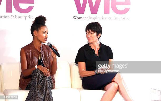 Esperanza Spalding and Ghislaine Maxwell attend the 4th Annual WIE Symposium at Center 548 on September 20 2013 in New York City