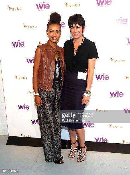 Esperanza Spalding and Ghislaine Maxwell attends the 4th Annual WIE Symposium at Center 548 on September 20 2013 in New York City