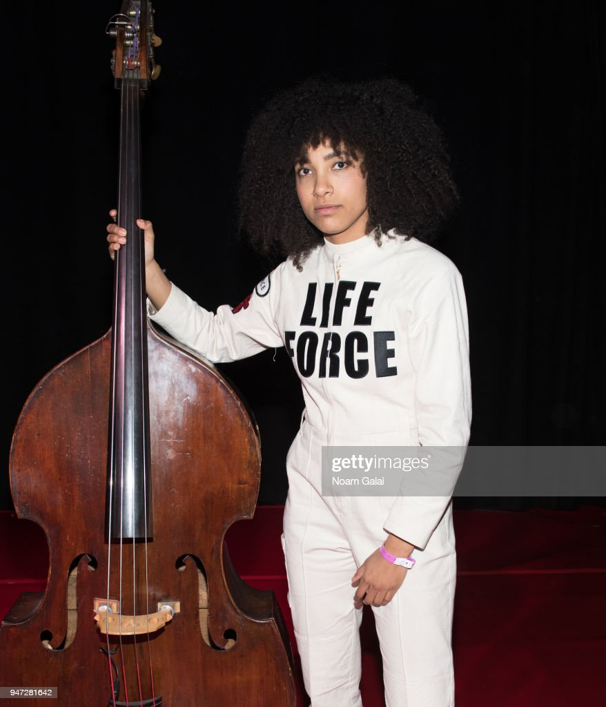 Esperanza Spalding attends the 2018 New York Live Arts Gala at Irving Plaza on April 16, 2018 in New York City.