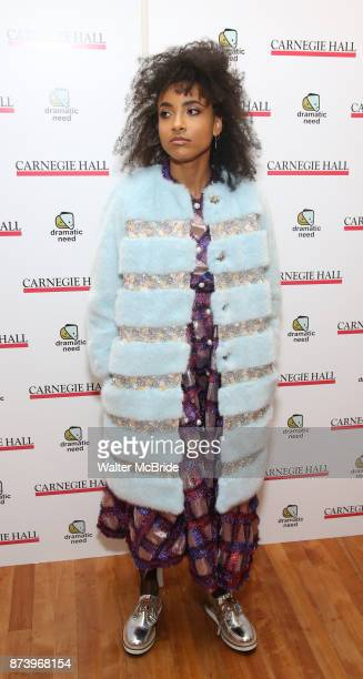 Esperanza Spalding attends The Children's Monologues at Carnegie Hall on November 13 2017 in New York City