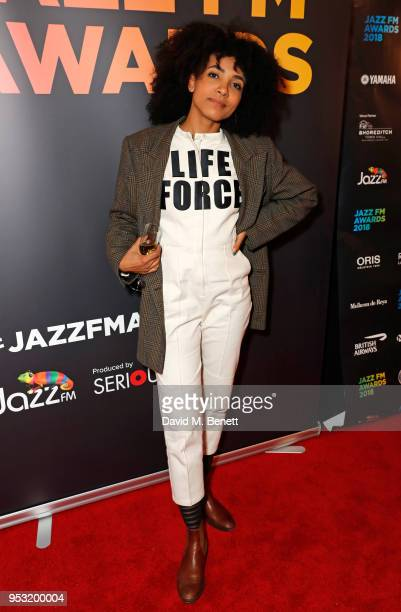 Esperanza Spalding attends the Jazz FM Awards 2018 at Shoreditch Town Hall on April 30 2018 in London England