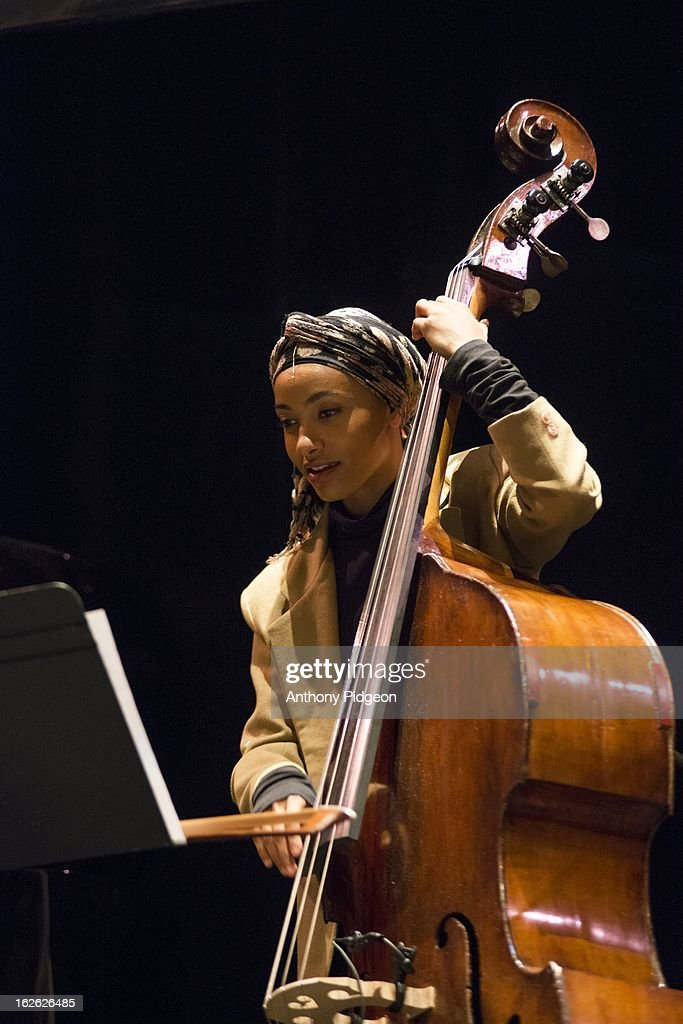 Esperanza Spalding of ACS (Allen Spalding Carrington) perform on stage at the PDX Jazz Festival on February 24, 2013 in Portland, Oregon.