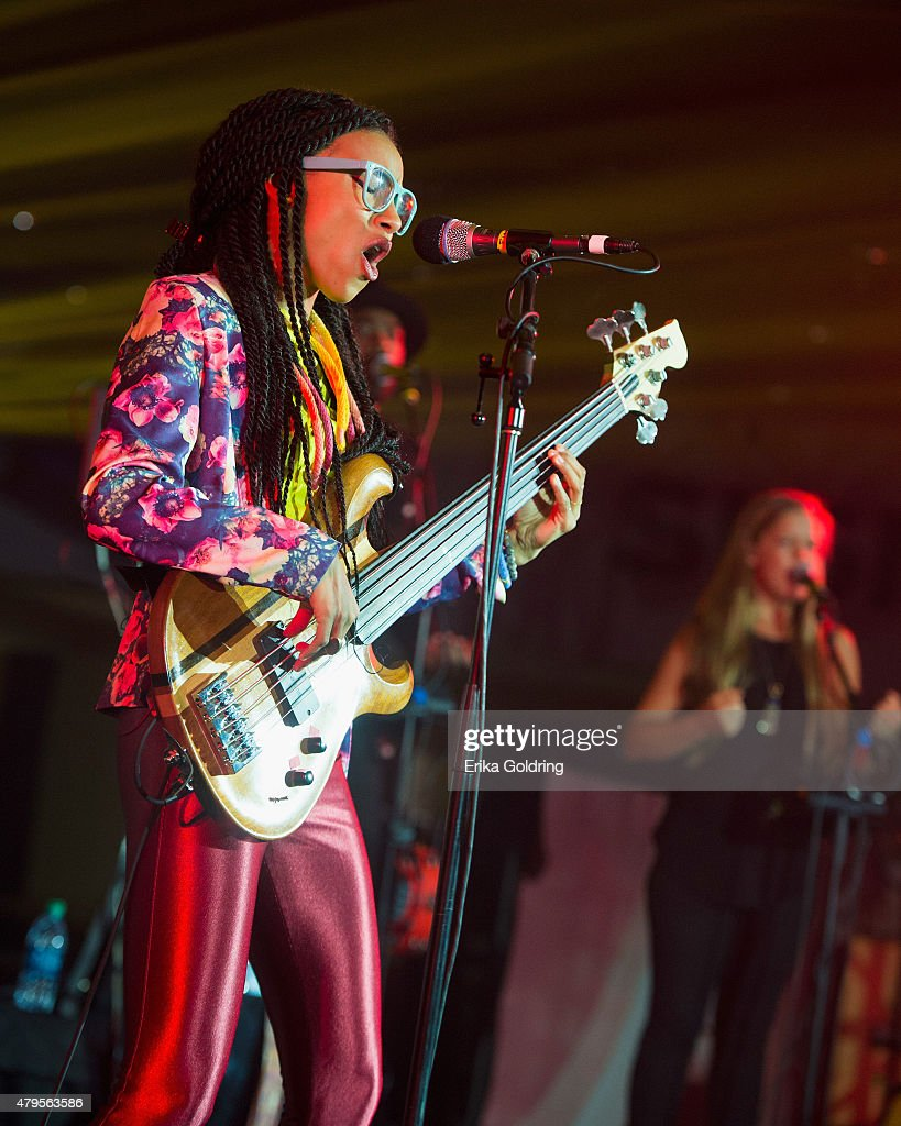 Esperanza Spalding of Emily's D+Evolution performs at the 2015 Essence Music Festival on July 4, 2015 in New Orleans, Louisiana.