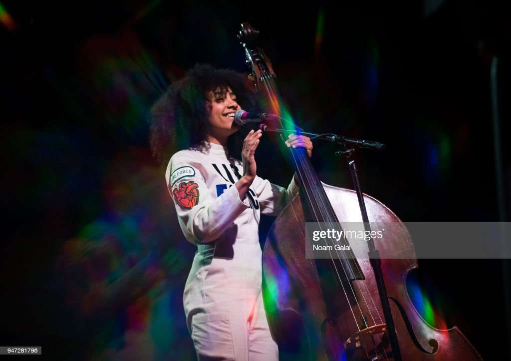 Esperanza Spalding performs at the 2018 New York Live Arts Gala at Irving Plaza on April 16, 2018 in New York City.