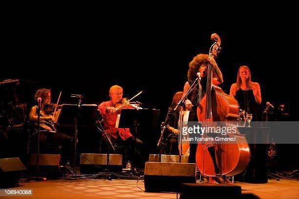 Esperanza Spalding performs in the 'XXVII Festival Jazz Madrid 2010' at Teatro Fernan Gomez on November 17 2010 in Madrid Spain