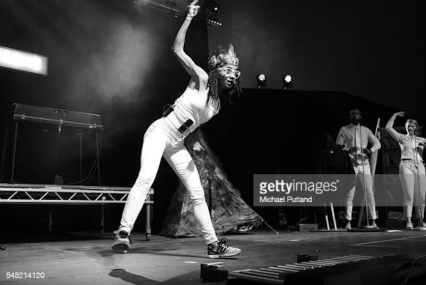 Esperanza Spalding performs on stage at the Love Supreme jazz festival Glynde Place East Sussex 2nd July 2016