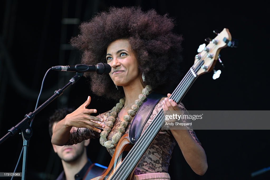 Esperanza Spalding performs on stage during Love Supreme