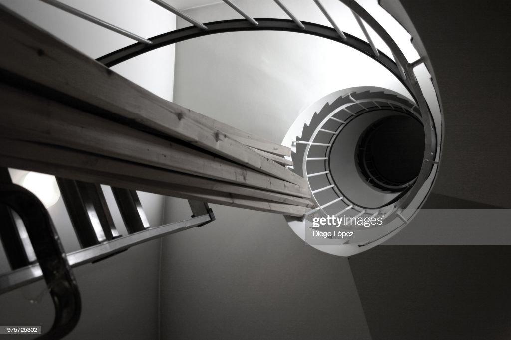 Espiral en Obras : Foto de stock