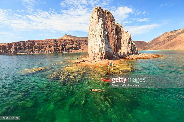 espiritu santos island - sea of cortez stock pictures, royalty-free photos & images