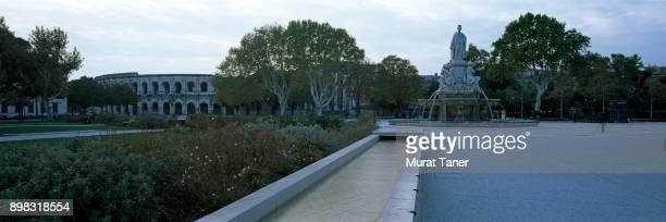 Esplanade Charles de Gaulle and Arena of Nimes