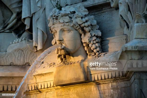 Esplanade Charles de Gaulle, the fountain Pradier, Nimes, Gard, France