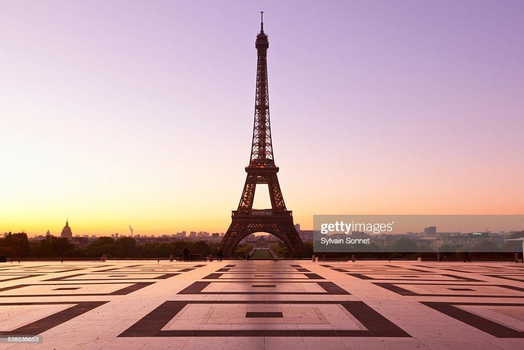 Esplanade du Trocadero, Paris : Stock Photo