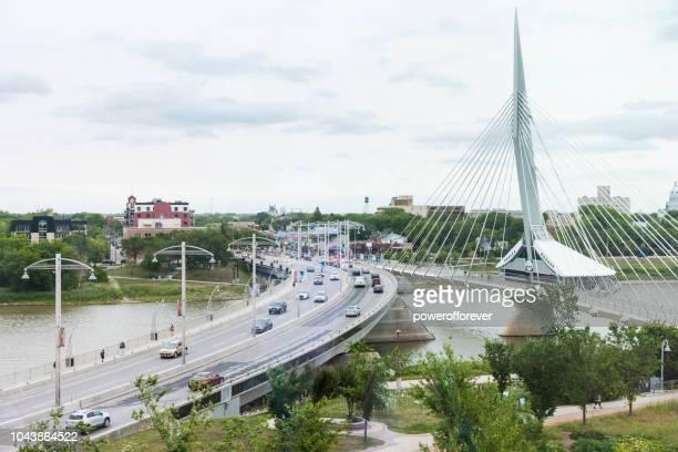 Esplanade Riel Bridge in Winnipeg, Manitoba, Canada
