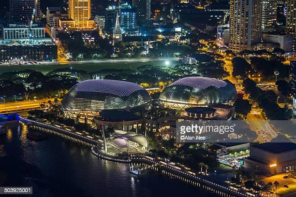 esplanade theatre singapore - nee nee fotografías e imágenes de stock