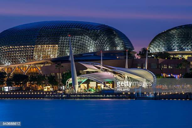 esplanade theatres on the bay, singapore. - performing arts center stock photos and pictures