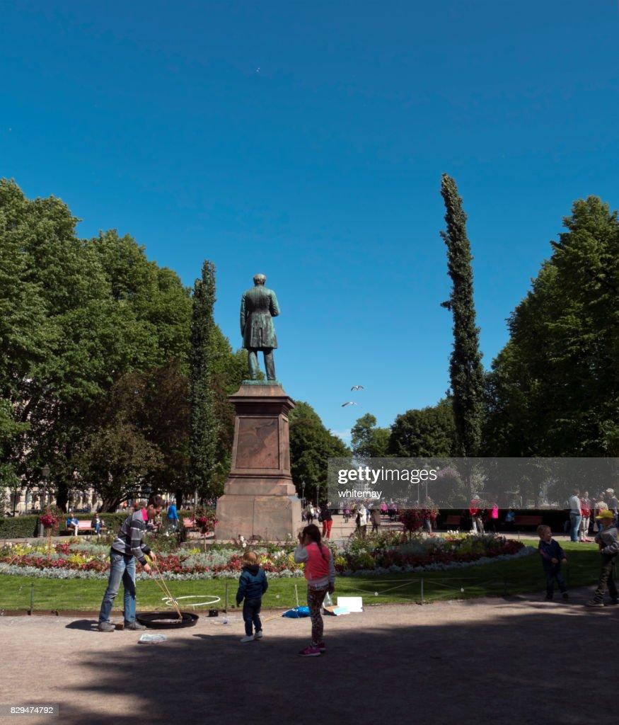 Esplanadi (Esplanade Park) in Helsinki, Finland : Stock Photo