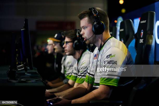 Sports player Ian Porter gamertag Crimsix of the OpTic Gaming's team competes during the final of the video game Call of Duty developed by Infinity...