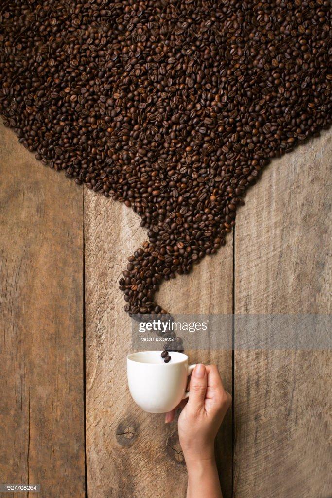Espresso black coffee drink still life. : Stock-Foto
