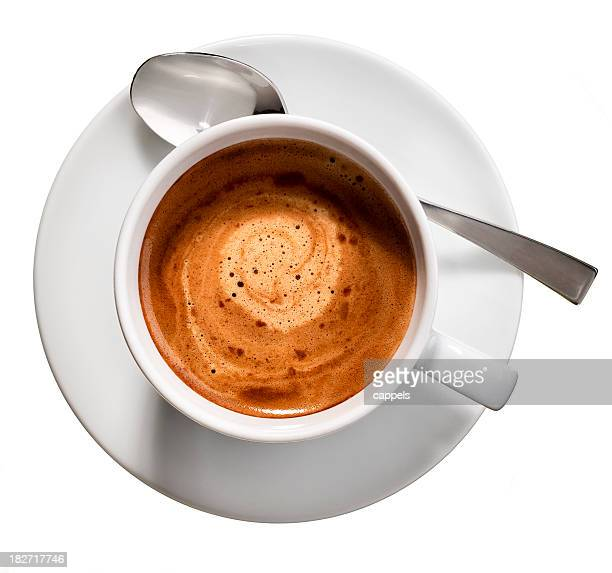 espresso coffee cup.color image - espresso stock photos and pictures