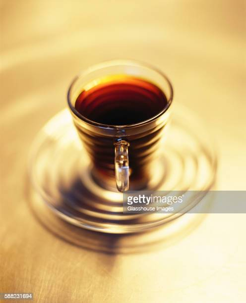 Espresso Coffee in Clear Cup