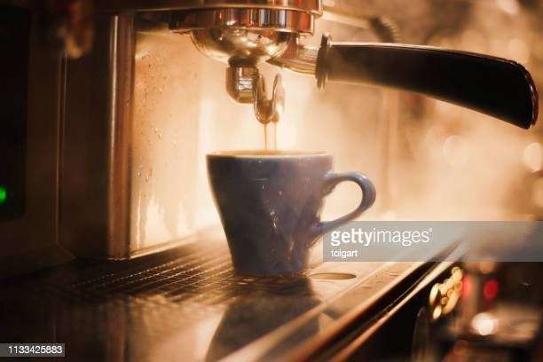 espresso coffee maker - hot drink stock pictures, royalty-free photos & images